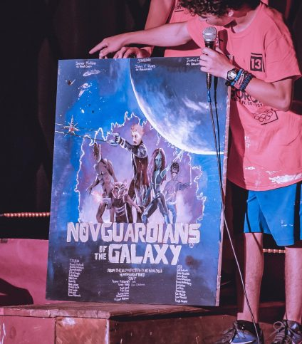 A painting that says Novguardians of the Galaxy